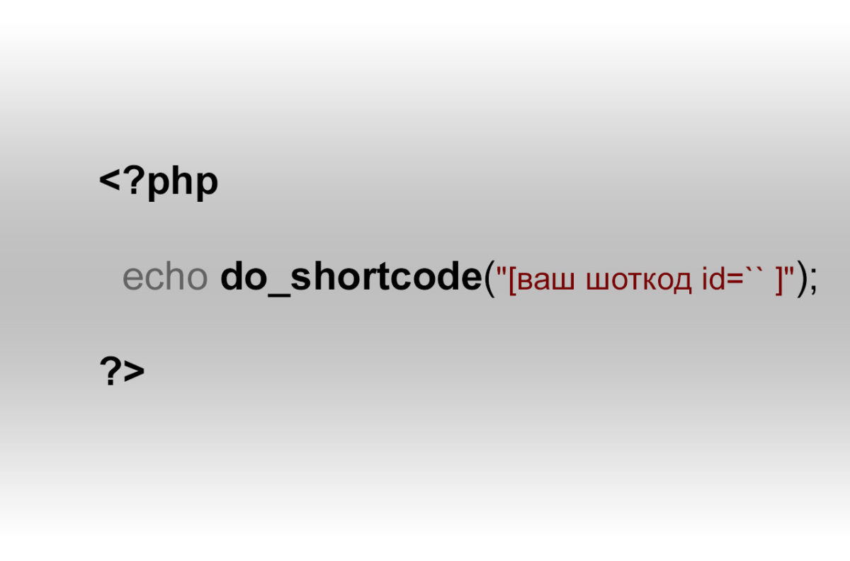 WordPress — шоткоди